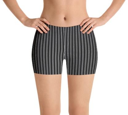 Pinstripe exercize running bicycle stripe speedo shorts