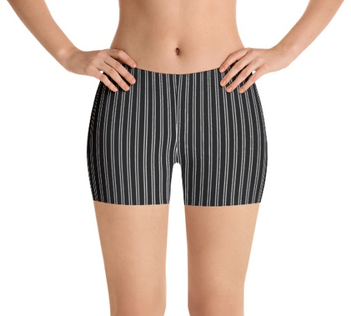 Pinstripe exercize running bicycle stripe speedo shorts