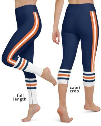 Chicago Bears yoga leggings uniform NFL Football exercise pants