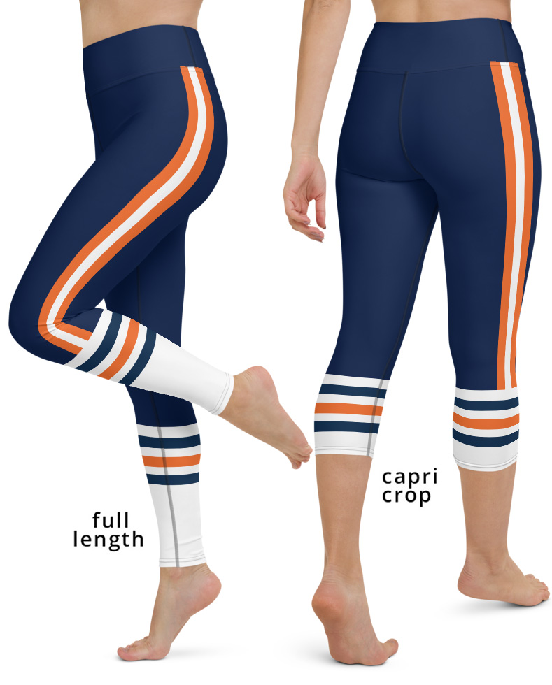 Chicago Bears yoga leggings uniform NFL Football exercise pants