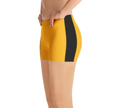 Penguins, Pirates, Black and gold Pittsburgh Steelers shorts uniform NFL Football exercise pants