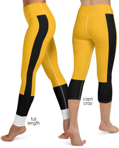 Penguins, Pirates, Black and gold Pittsburgh Steelers yoga leggings uniform NFL Football exercise pants
