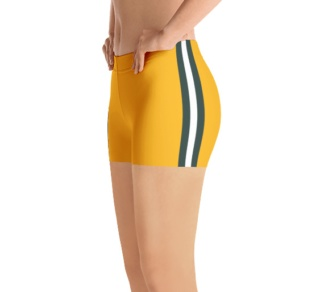 Wisconsin Green Bay Packers yoga exercise shorts uniform NFL Football exercise pants