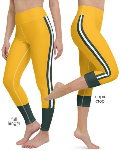 Wisconsin Green Bay Packers yoga leggings uniform NFL Football exercise pants