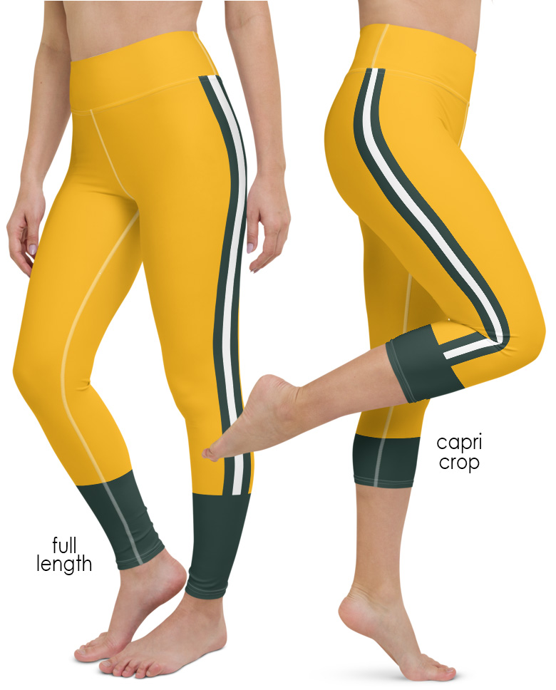 Wisconsin Green Bay Packers yoga leggings uniform NFL Football exercise pants