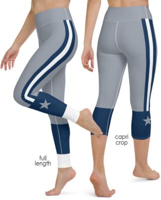 Dallas Cowboys yoga leggings uniform NFL Football exercise pants
