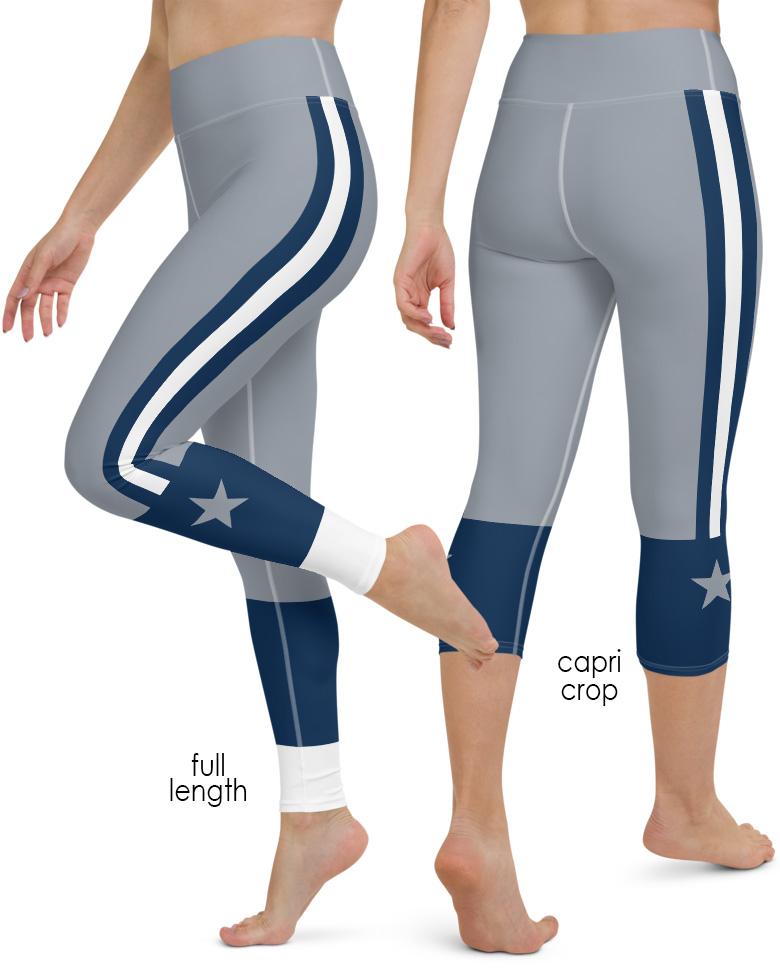 f655ebc1ac162 Dallas Cowboys Yoga Leggings - Sporty Chimp legging, workout gear & more