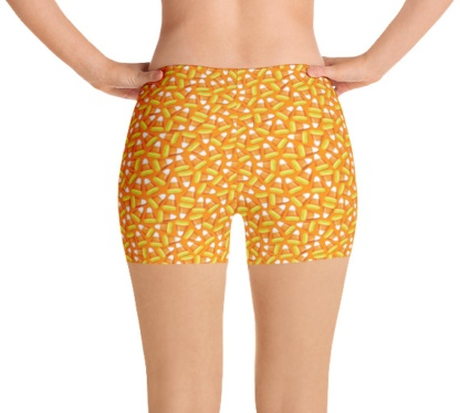 Halloween Candy Corn Running Exercise Shorts