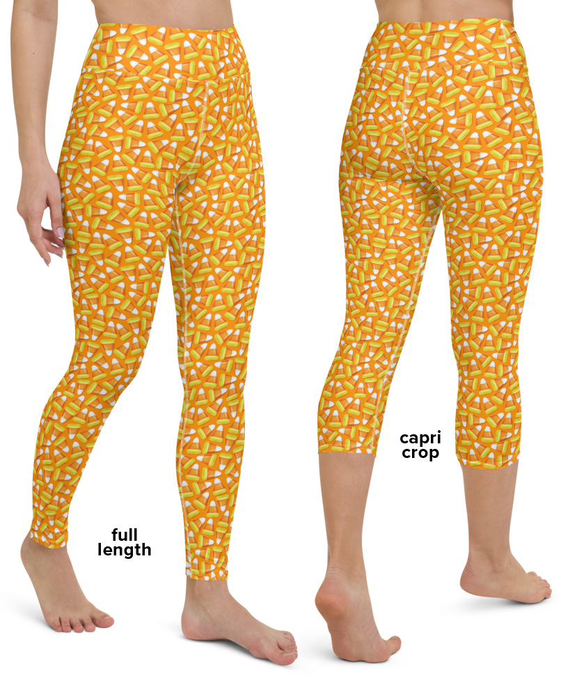 Halloween Candy Corn yoga leggings