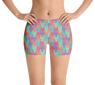 Easter Bunny Running Jogging Exercise Shorts