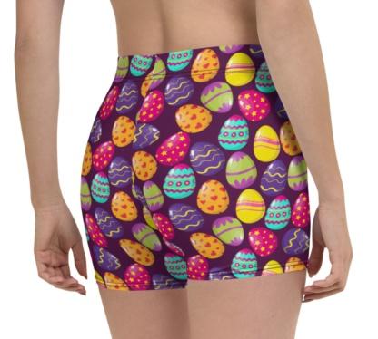 easter egg running exercise shorts
