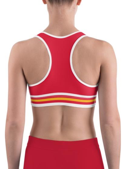 Kansas City Chiefs exercise sports bra uniform NFL Football exercise top