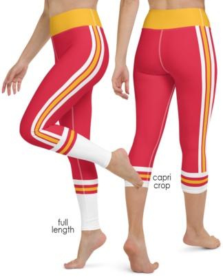 Kansas City Chiefs yoga leggings uniform NFL Football exercise pants
