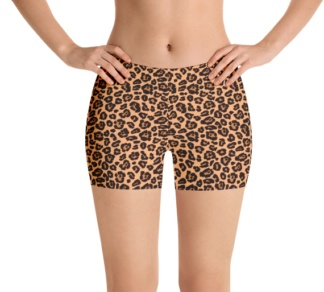Leopard skin running shorts yoga shorts exercise shorts