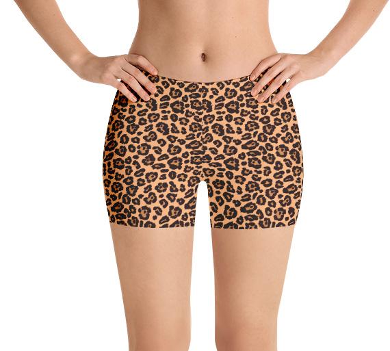 Leopard skin running shorts yoga shorts exercise shorts