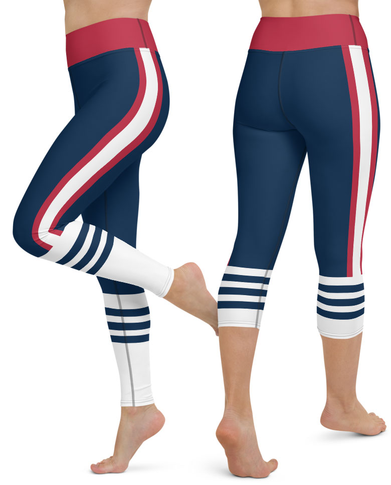 New England Patriots yoga leggings uniform NFL Football exercise pants