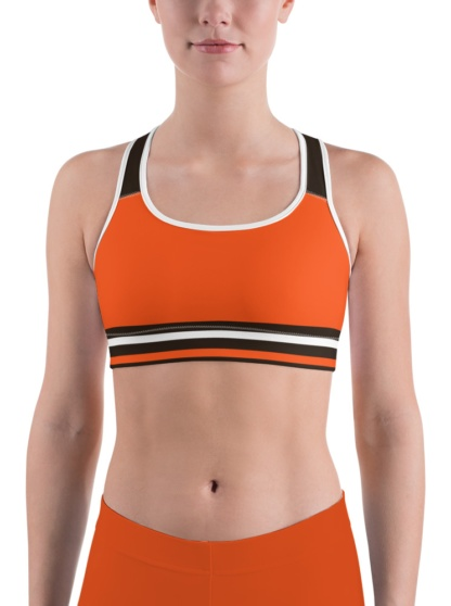 Cleveland Browns Sports Bra uniform NFL Football exercise top