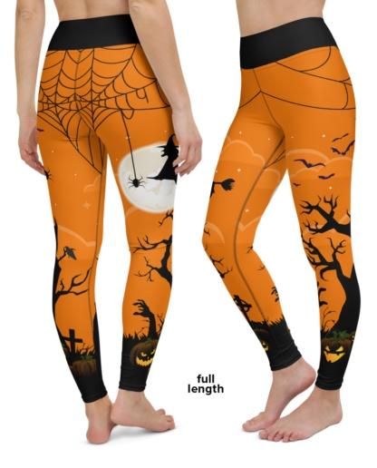 Spooky Halloween Yoga Leggings costume