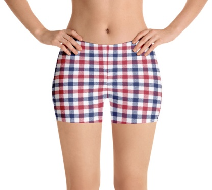 American color plaid shorts for jogging, running and yoga