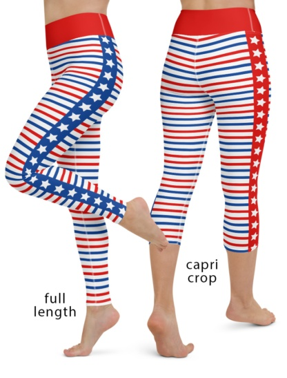 American Patriot 4th of July Yoga Leggings Exercise