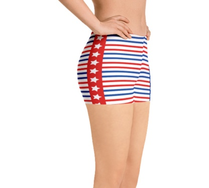 American Patriot 4th of July Running Jogging Shorts for Exercise