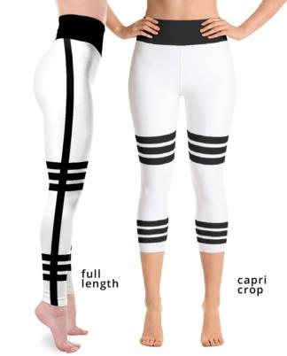 Sexy side strip yoga leggings striped exercise pants