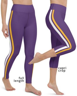 Minnesota Vikings yoga leggings uniform NFL Football exercise pants