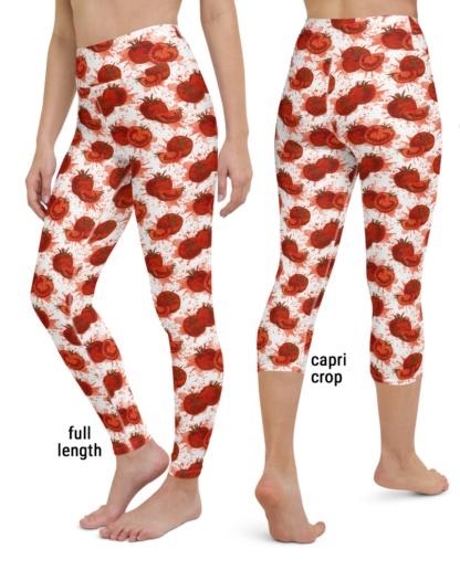 exercise squashed tomato yoga leggings