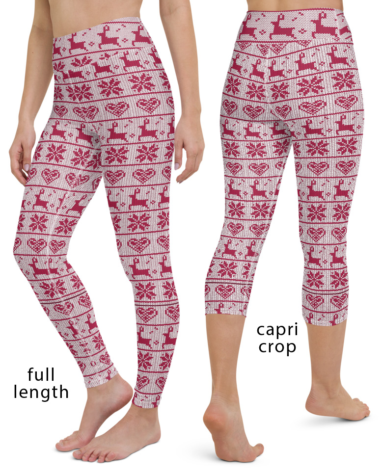 8feeb93aa2aa96 Ugly Christmas Sweater Yoga Leggings - Sporty Chimp legging, workout ...
