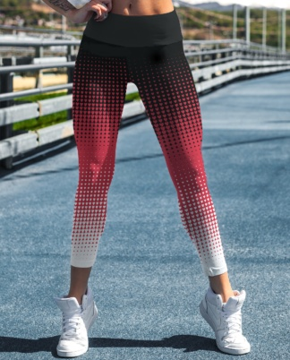 Halftone Heart Valentine's Day hearts yoga exercize Leggings