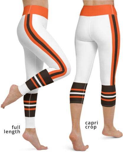 Cleveland Browns yoga leggings uniform NFL Football exercise pants