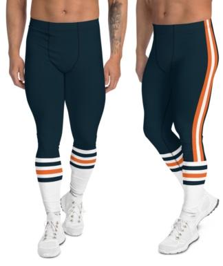Chicago Bears leggings for men uniform NFL Football exercise pants running tights