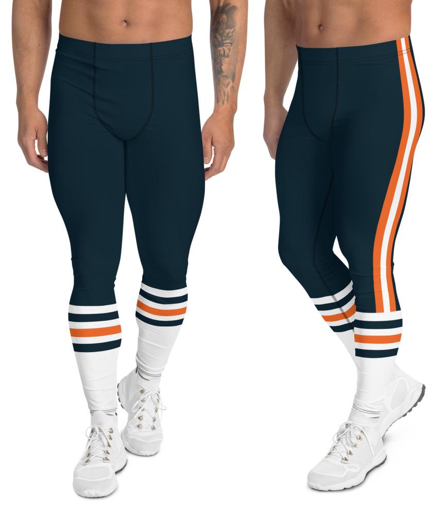 7ec1b9234e28a Chicago Bears leggings for men uniform NFL Football exercise pants running  tights