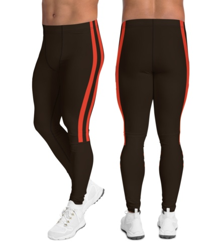 color rush Cleveland browns leggings for men uniform NFL Football exercise pants running tights