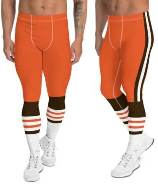 Cleveland browns leggings for men uniform NFL Football exercise pants running tights