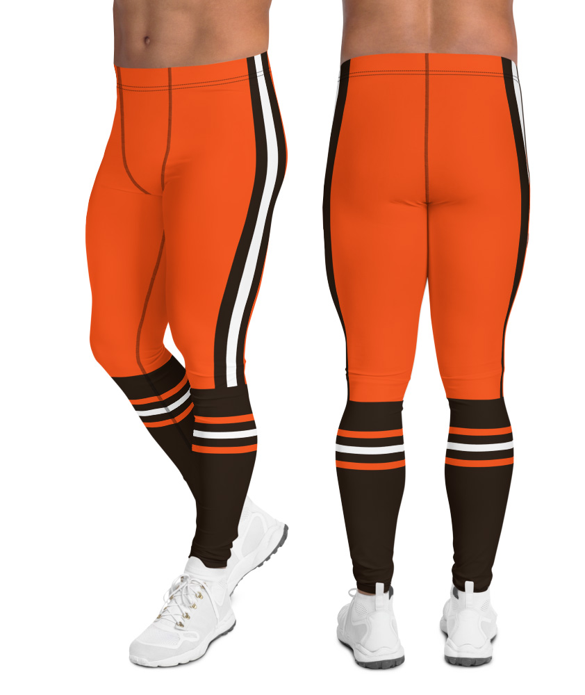 Cleveland browns leggings for men uniform NFL Football exercise pants running tights