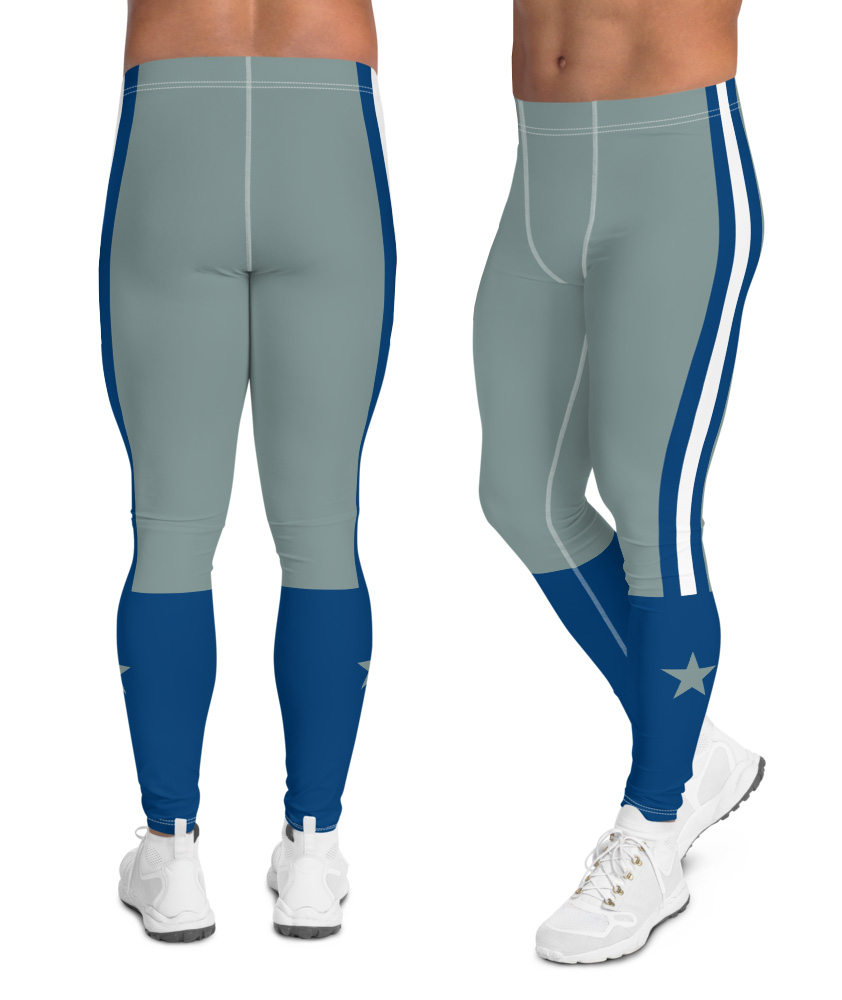 Texas Dallas Cowboys leggings for men uniform NFL Football exercise pants running tights