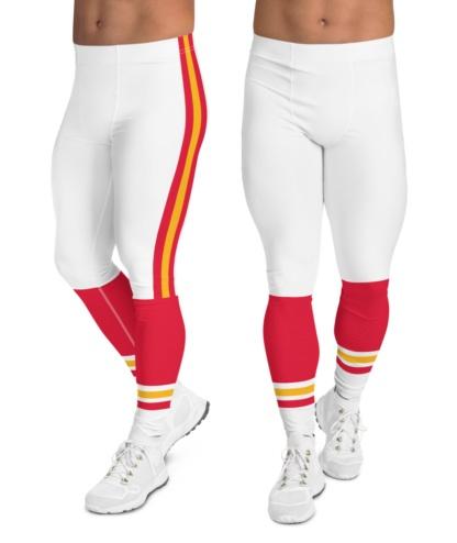 The Kansas City Chiefs leggings for men uniform NFL Football exercise pants running tights