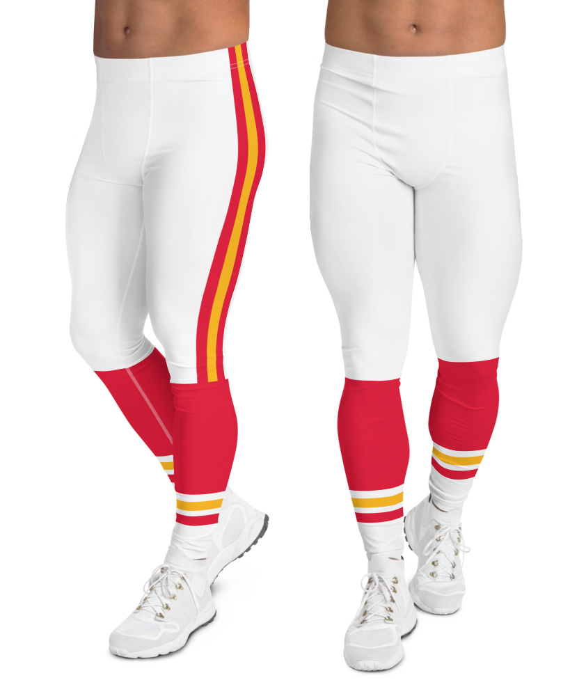 The Kansas City Chiefs leggings for men uniform NFL Football exercise pants running tights