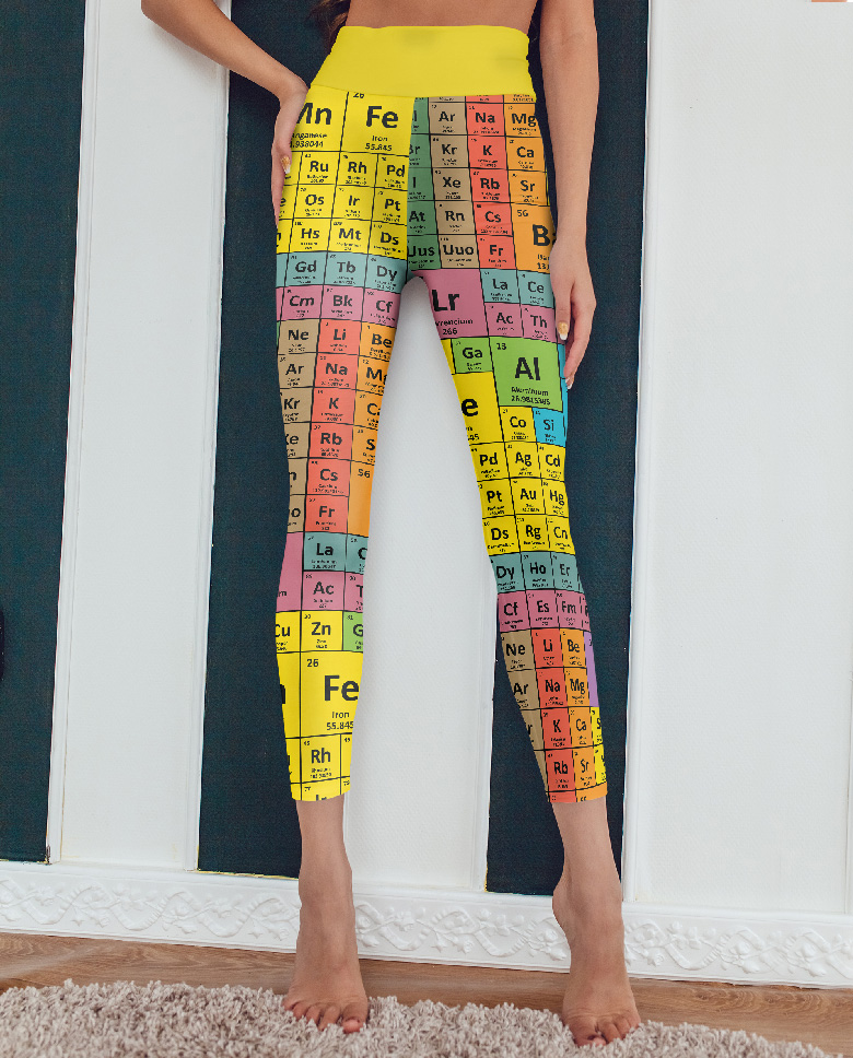 Chemistry formula table of elements periodic tables yoga leggings - Gifts for science geeks