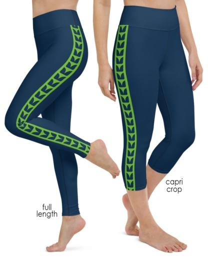 Washington Seattle Seahawks yoga leggings uniform NFL Football exercise pants
