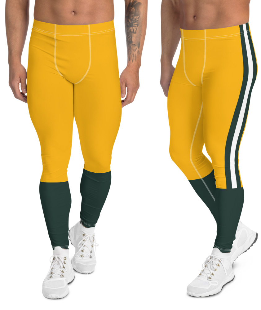 Green Bay Packers leggings for men uniform NFL Football exercise pants running tights