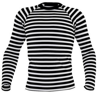 Horizontal Stripe Men's rash guard - Striped exercise top