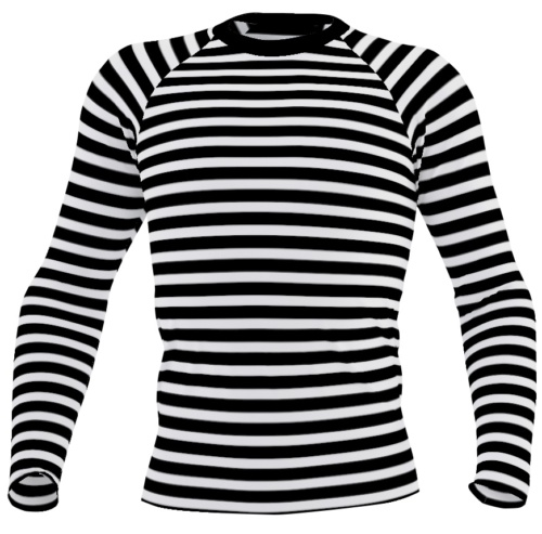 Horizontal Stripe Men's rash guard - Striped exercise top