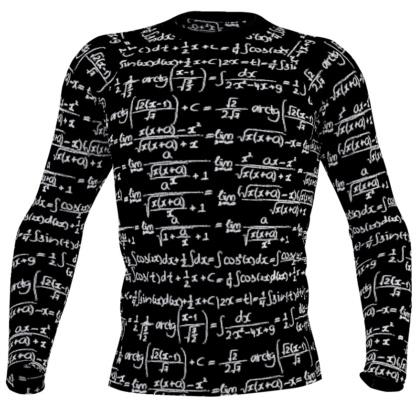 Trigonometry Formulas & Integrals Math Long Sleeve Men's Rash Guard