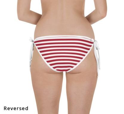 american flag fourth of july reversible bikini bottom
