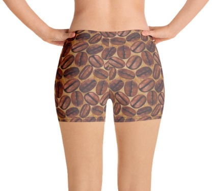 Addicted to Caffeine Lover Coffee Bean Women's exercise running shorts