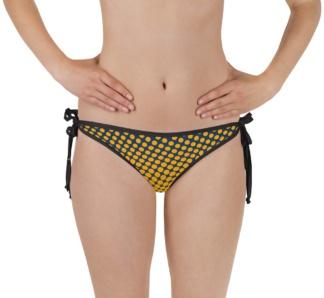 Polkadot bathing suit bikini bottom halftone dots two piece swimsuit