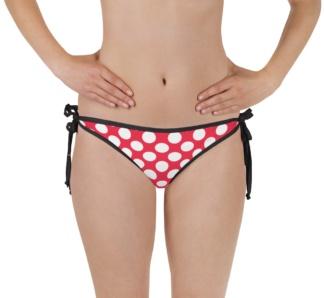 Polkadot polka dot bathing suit two piece swimsuit bikini bottom