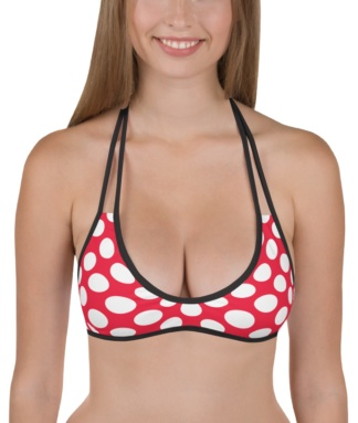 Polkadot polka dot bathing suit two piece swimsuit bikini top